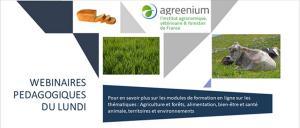 Les webinars pédagogiques d'Agreenium